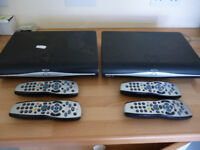 2 off SKY +HD boxes plus 4 controllers.
