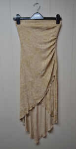 Le Chateau gold party dress in sparkly fabric
