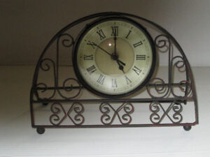 Clock in Decorative Iron Stand