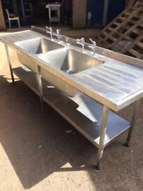 used tables sinks shelving canopys