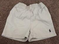 Boys 9 Month Beige Ralph Lauren Chino Style Shorts