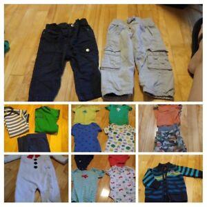 Lot garçon 0-3 mois, 6 mois, 9 mois et 12 mois