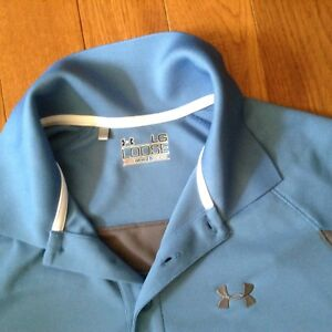 Under armour blue polo shirt, top, excellent, new conditions