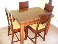 CAN DELIVER - VERY RARE SPACE SAVER DINING TABLE AND 4 CHAIRS