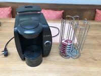 Tassimo coffee maker and pod stand