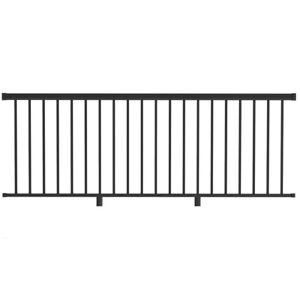 Aluminum deck railing (black)