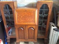 Bureau, beautiful oak bureau / bookcase