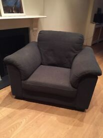 Very comfy fabric armchair