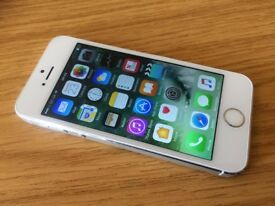 Apple iPhone 5s 16GB Silver & White Screen, Smart Phone Good Working Order A1457 o2