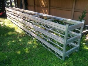 3 sections de quais aluminium 20 pieds