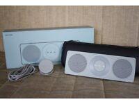John Lewis Spectrum Bluetooth Travel Speaker - Boxed - Carry Case - Blue/Grey - Retro