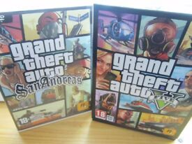 PC GAMES X 2 GRAND THEFT AUTO 5 AND SAN ANDREAS