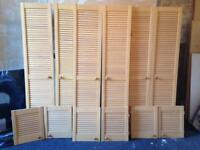 Single pine louvre doors