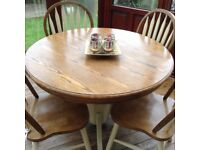 Pine Table And Chairs Extendable