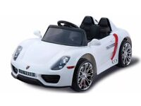 Porsche Style, Availsble in Red, Black, White, Pink, Kids Ride-On Cars 12v