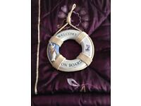 Ships decorative welcome aboard sign