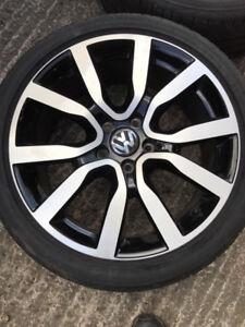 OEM VW GTI Serron wheels with 225/40/18 Dunlop SP Sport Tires