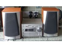 Sony mini fi component system DH3 MD313 with Sony speakers