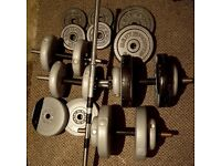 Barbell dumbbells + 60 kg weights plates