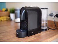 Nespresso U Coffee Machine   1 year old + Ritual Lungo Cups Set