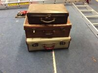 Post war suitcases