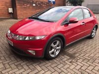 2007 Honda Civic 2.2ctdi full leather, panoramic roof drives lovely 07757555740