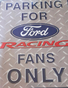Ford Racing sign