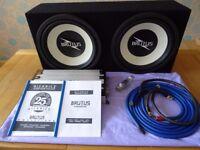 "Hifonics Brutus 25th Anniversary Super Class D Mono Amp 2600w & 2 Hifonics Brutus 15"" 700w Rms Subs"