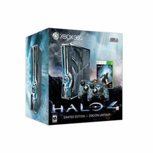 xbox 360 halo 4 edition with guirat hero and rock band