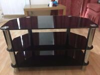 Tv trolley glass and steel £25
