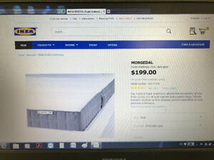 Almost new IKEA mattress for $100+free bedframe
