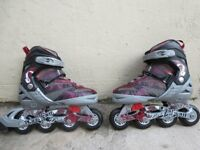 Roller Blades ; Adjustable to Sizes 2-4+;