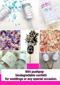 Bè's Confetti makes all different pushpops for you special occasions