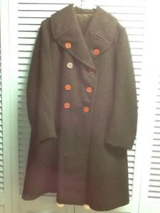 Ladies Wool Pea Coat