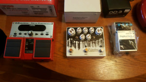 Guitar Effects Pedals -Overdrive, Distortion,Looper, Delay