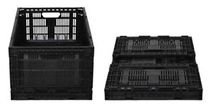 Collapsible and stackable black crates