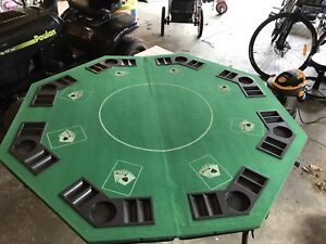 Folding poker table and 1000 chip set  $60