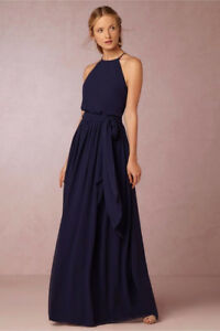 Navy Blue BHLDN Bridesmaid Dress