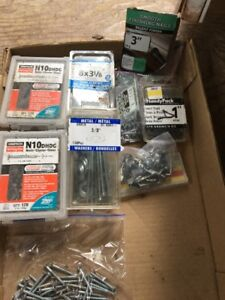 misc. nails, screws and wire