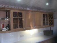 Kitchen, Floor &Wall Cupboards With Worktops & Oven