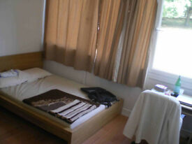 Large double room with double bed in friendly house share available (for single person only).