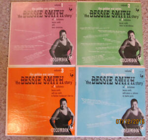 "BESSIE SMITH LP RECORDS – The Bessie Smith Story on 4 12"" LPs"