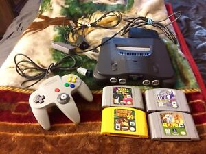 Nintendo 64 Console System Bundle With Games