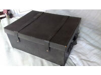 Leather Covered Box with Straps and Handles. Price Drop