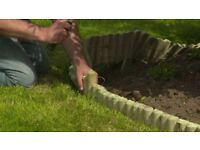 Rowlinson Wooden Log Spiked Garden Border x 3 Lengths