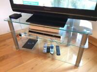 Glass TV stand/table