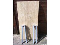 Ikea light wood veneer table / desk