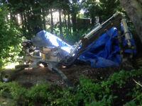 Excavator, Trencher, Back Hoe, Spider Digger. 9HP excavator 3 buckets.