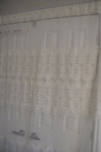 "Door Window Curtain flower Lace Drape Panel Voile Tulle 55""x 80"""