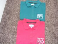 2 X New Polo Shirts Advertising Thatcher's Cider Size M ( Price Is For Both But Can Sell Separate ).